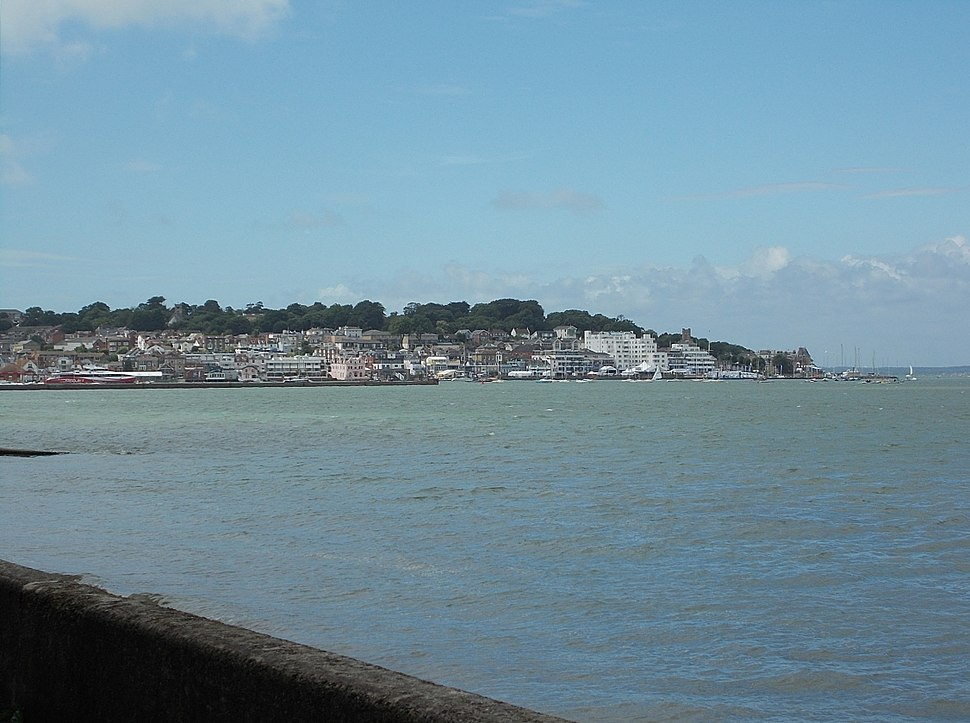 Cowes, viewed from East Cowes, IW, UK