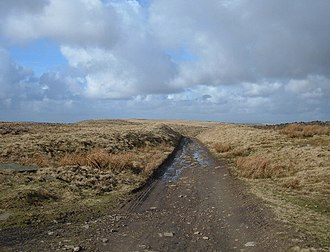 Hail Storm Hill - The Pennine Bridleway just to the north of the summit