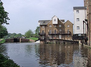 Coxes Lock - Coxes Lock and Mill, River Wey, Surrey.