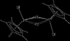 Pentamethylcyclopentadienyl iridium dichloride dimer - Image: Cp*Ir Cl 2dimer
