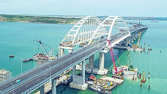 Crimean Bridge - Image: Crimean Bridge 1