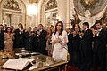 Cristina Fernández después de tomar juramento a sus ministros.jpg