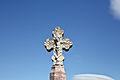 Croix de cimetière, détail de la croix, Vinça.jpg