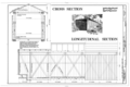 Cross Section, Longitudinal Section - McConnell's Mill Bridge, Spanning Slippery Rock Creek at McConnell's Mill Road (Township Route 415), Ellwood City, Lawrence HAER PA,37-ELLCI.V,1- (sheet 4 of 6).png