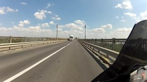 Файл:Crossing the Danube from Romania to Bulgaria.webm