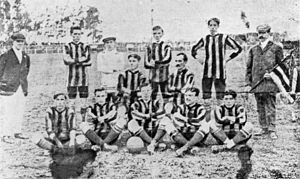 "Central Uruguay Railway Cricket Club - The 1911 team, the last under the ""CURCC"" denomination"