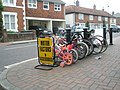 Cycle rack outside Emsworth Car and Cycle - geograph.org.uk - 805765.jpg