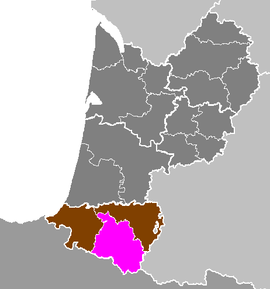 Location o Oloron-Sainte-Marie in Aquitaine