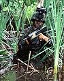 DF-SD-02-02377 - Airman in swamp water during Defender Challenge '97.jpg