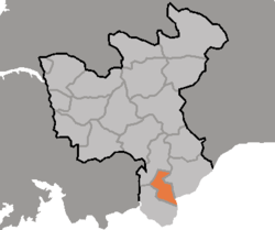 Location of Kaesŏng