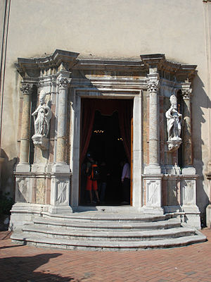 Pancras of Taormina - Entrance to Church of San Pancrazio, Taormina.