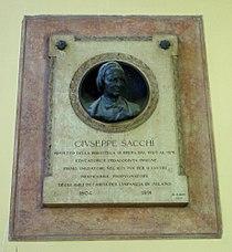 DSC02719 Milano, Biblioteca di Brera - Lapide a Giuseppe Sacchi - Foto Giovanni Dall'Orto - 20 jan 2007.jpg