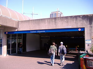 Stadium–Chinatown station - Entering the station from Beatty St., normally used by BC Place goers