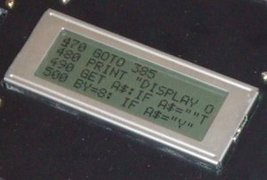 Hitachi HD44780 LCD controller - Image: DTV LCD MOD
