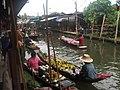 Damneon Saduak-Floating market - Plovoucí trh Damneon Saduak - panoramio.jpg