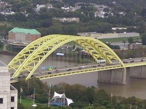 "Newport, Kentucky - The Daniel Carter Beard Bridge is more commonly called the ""Big Mac"" bridge because of its resemblance to McDonald's iconic arches."