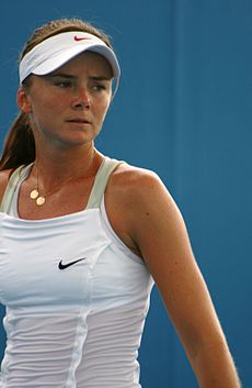 Daniela Hantuchova at the 2009 Brisbane International4.jpg