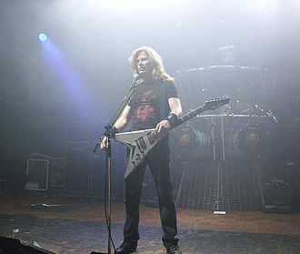 Megadeth - Mustaine dissolved Megadeth in 2002, following an arm injury that prevented him from playing guitar.