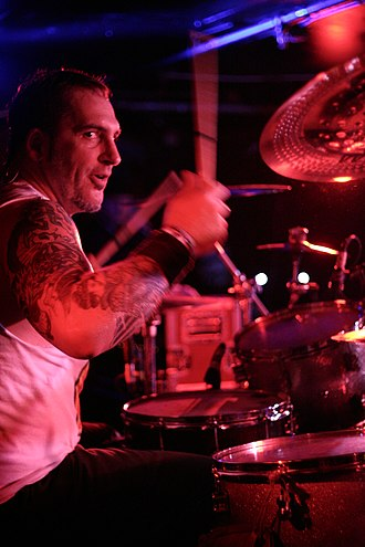 Dave Raun - Dave Raun drumming for Lagwagon on October 16, 2012 at Middle East Club, Cambridge, MA.