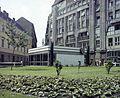 Deák Ferenc tér, a metró lejárócsarnoka. Fortepan 94985.jpg
