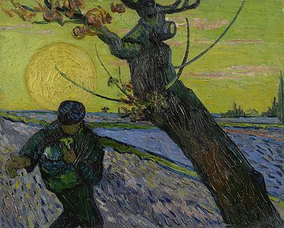 The Sower with Setting Sun, 1888. Van Gogh Museum, Amsterdam