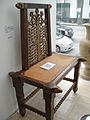 """Debbie Reynolds Auction - leather-insert carved wood tables-chairs from """"David and Bathseba"""" and other 20th Century Fox productions.jpg"""