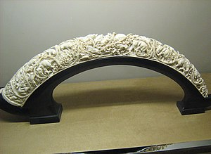 Ivory (color) - Carved ivory in Sa'dabad Palace, Iran