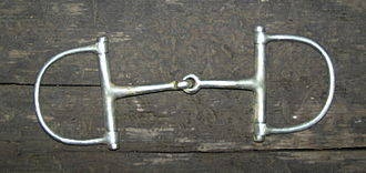 Snaffle bit - A classic Dee Ring snaffle bit with single jointed mouthpiece
