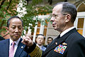 Defense.gov News Photo 101007-D-7203C-029 - Chairman of the Joint Chiefs of Staff Adm. Mike Mullen speaks with South Korean Defense Minister Kim Tae-Young and other defense officials during a.jpg