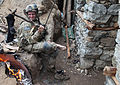 Defense.gov News Photo 110329-A-TH742-013 - A U.S. Army soldier from 101st Airborne Division dries his socks after days of combat operations in the valley of Barawala Kalet in Kunar province.jpg