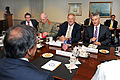 Defense.gov News Photo 110727-D-WQ296-049 - An Australian defense delegation led by Minister of Defense Stephen Smith right meets with Secretary of Defense Leon E. Panetta left in the.jpg