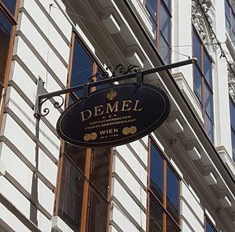 Demel - Demel exterior sign