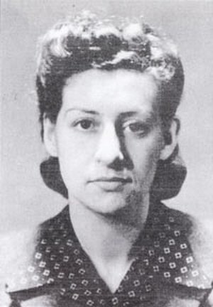 Resistance Medal - Resistance member Denise Bloch, a posthumous recipient of the Resistance medal