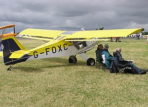 Airfoil - An airfoil section is displayed at the tip of this Denney Kitfox aircraft, built in 1991.
