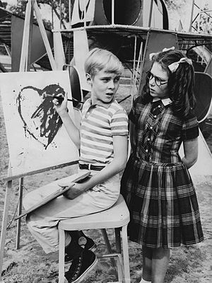 Dennis the Menace (1959 TV series) - Jay North as Dennis and Jeannie Russell as Margaret Wade, 1963: In this final fourth season, Dennis no longer wears his trademark overalls.
