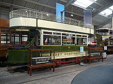 Derby Corporation Tramways 1, National Tramway Museum, Crich Tramway Village, Derbyshire.jpg