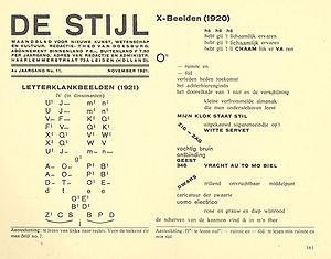 "De Stijl - ""De Stijl"" November 1921, Dadaism"