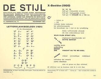 De Stijl - De Stijl November 1921, Dadaism