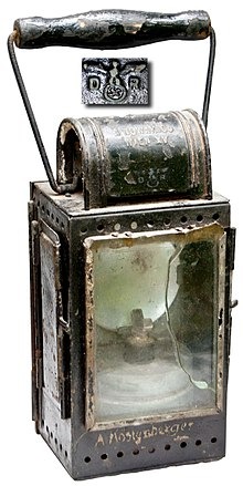 WWII German Reich Railway DRB Brass Carbide Burner Trainmans Lantern C1942