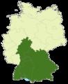 Deutschland Lage von Süddeutschland.png