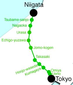 Jōetsu Shinkansen Wikipedia - Joetsu map