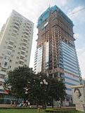 Diamond Flower Tower during construction (IMG 0002).JPG