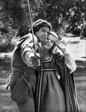 Misty Rowe - Rowe as Maid Marian in When Things Were Rotten, 1975.