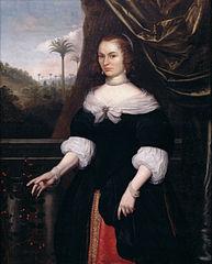 Portrait of Dina Lems, Wife of Jan Valckenburgh