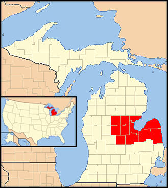 Roman Catholic Diocese of Saginaw - Image: Diocese of Saginaw map 1