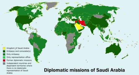 List of diplomatic missions of Saudi Arabia - Wikipedia