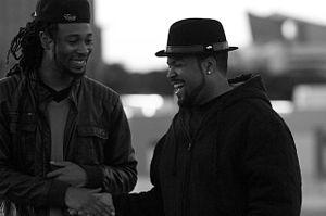 Gabriel Hart - Image: Director Gabriel Hart & Ice Cube on film set