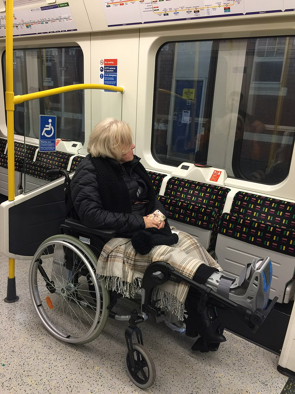 Disabled person Tube train.jpeg