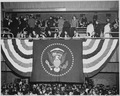 Distance view of President Truman and his family at the inaugural gala at the National Guard Armory in Washington, D.... - NARA - 199987.tif