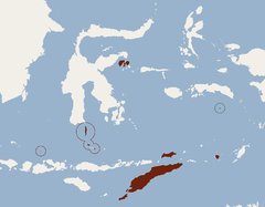 Distribution of Pteropus griseus.png